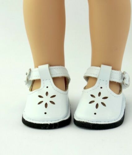 "White shoes Mary Jane 14/"" Wellie Wishers doll American Girl accessories clothes"