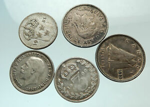 GROUP-LOT-of-5-Old-SILVER-Europe-or-Other-WORLD-Coins-for-your-COLLECTION-i75688