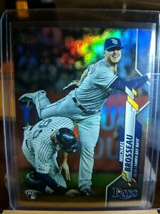 2020-Topps-Series-1-Rainbow-Foil-Parallel-133-Michael-Brosseau-Tampa-Bay-Rays
