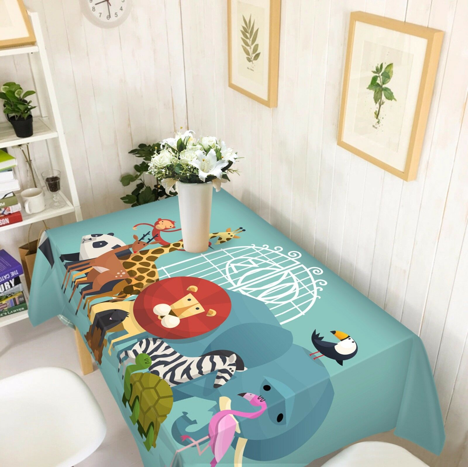 3D Animal 4848 Tablecloth Table Cover Cloth Birthday Party Event AJ WALLPAPER AU