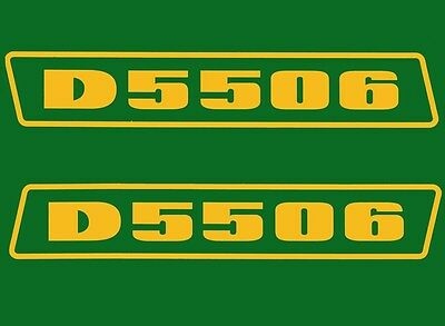 Deutz D5506 Aufkleber Logo Emblem Sticker Label gold .