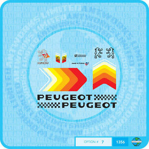 Stickers Set 7 Transfers Peugeot Bicycle Decals