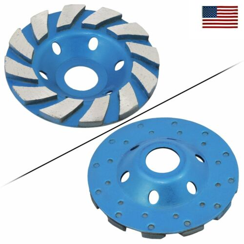 """US 4/"""" 100mm Concrete Turbo Diamond Grinding Cup Wheel Turbo Cup Disc Grinder"""