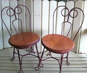 Image Is Loading Childs Ice Cream Parlor Chairs Set Of 2