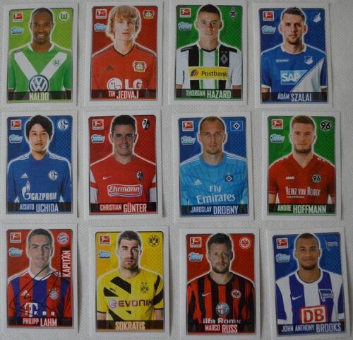 Topps Bundesliga 14//15-2014//2015-50  Sticker  aussuchen Neu