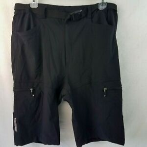 Aero-Tech-Designs-Men-039-s-Urban-Pedal-Pusher-Shorts-w-Cargo-Pockets-MEDIUM-Black