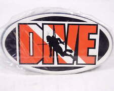 "Dive Flag w/Diver Metal Trailer Hitch Cover/Plug Fits 2"" Receivers NEW"