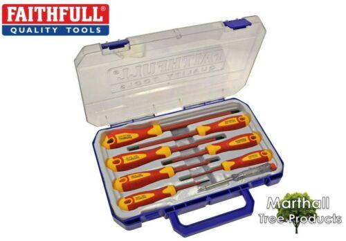 Faithfull SDVDESET 7 Soft Grip VDE électrique Tournevis Set 8 pieces