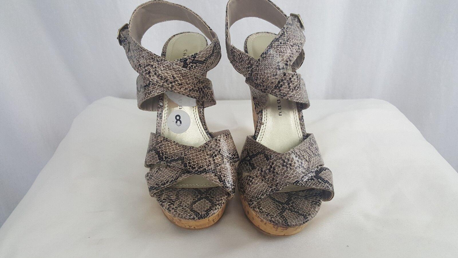 Chinese Heels Laundry Animal Print Corl Heels Chinese Platform Heels size 8 ab9abf