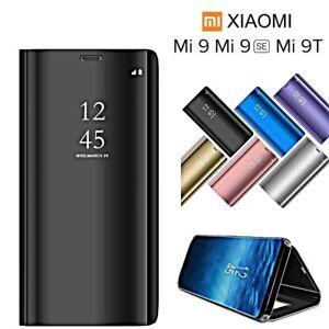 COVER-per-Xiaomi-Mi-9T-Mi-9-SE-FLIP-ORIGINALE-MIRROR-CASE-SLIM-Clear-View