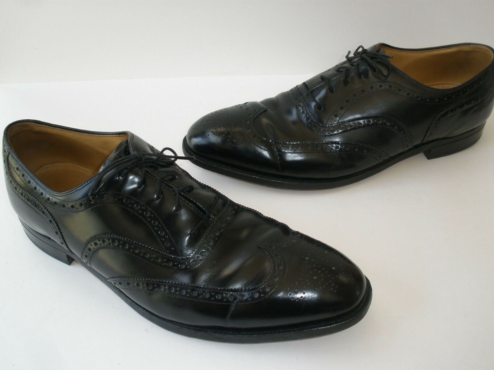 JOHNSTON & MURPHY ARISTOCRAFT WING TIP LEATHER OXFORD US13  MADE IN USA