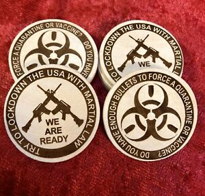 8pc Try To Lockdown Usa Martial Law Not Enough Bullets For Quarantine Token Coin Ebay