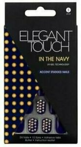In The Navy 24 Nails 10 Sizes Structural Disabilities Ambitious Elegant Touch False Nails
