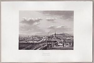Edinburgh-Schottland-Gesamtansicht-Original-Stahlstich-1862