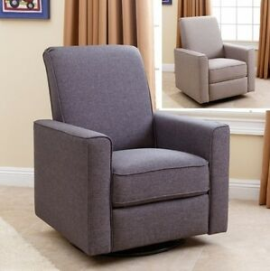 Image Is Loading Nursery Taupe Or Gray Swivel Glider Recliner Arm