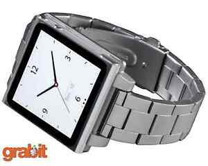 HEX-VISION-METAL-watch-band-for-iPod-Nano-Gen-6-Silver