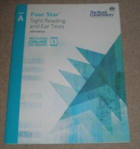 Ambitieux Quatre étoiles De La Vue Lecture Et Oreille Tests, Le Conservatoire Royal Un Bk/online Book-afficher Le Titre D'origine Marchandises De Proximité