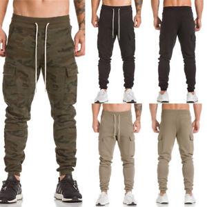 Men-Trousers-Sweatpants-Harem-Pants-Slacks-Casual-Jogger-Dance-Sportwear-Baggy