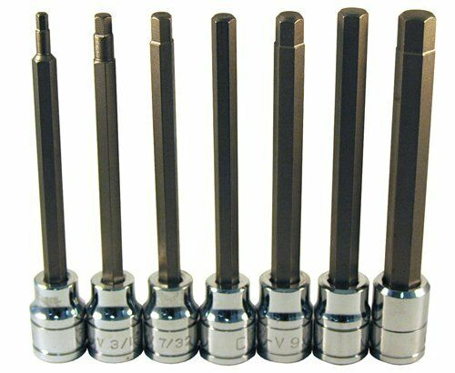 ATD-13786 Extra Long Sae Hex Bit Socket Set 7 Pc. Rel Products Inc
