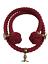 24mm-Rojo-Algodon-Natural-Bannister-soga-x-1-5-metres-con-3-Laton-abrazaderas