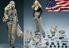 1/6 Jessica Alba Camouflage Female Soldier Figure Accessories Premium Set USA