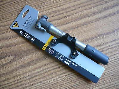Bike Mini Pump Topeak Pocket Rocket Master Blaster Alloy Silver 160psi Bicycle