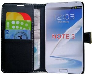 buy online 3374c db7a3 Details about SAMSUNG GALAXY NOTE 3 III N9000 N9002 N9005 LEATHER POUCH  WALLET COVER BOOKCASE