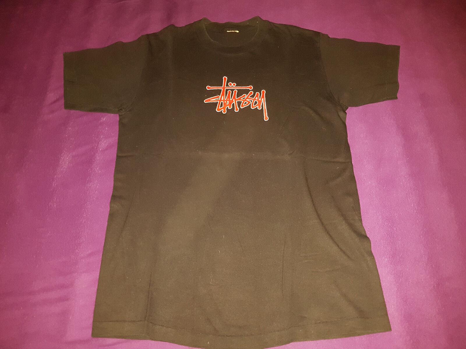 Original STÜSSY T-Shirt - black - Extrem selten - Sehr guter Zustand - Gr. L