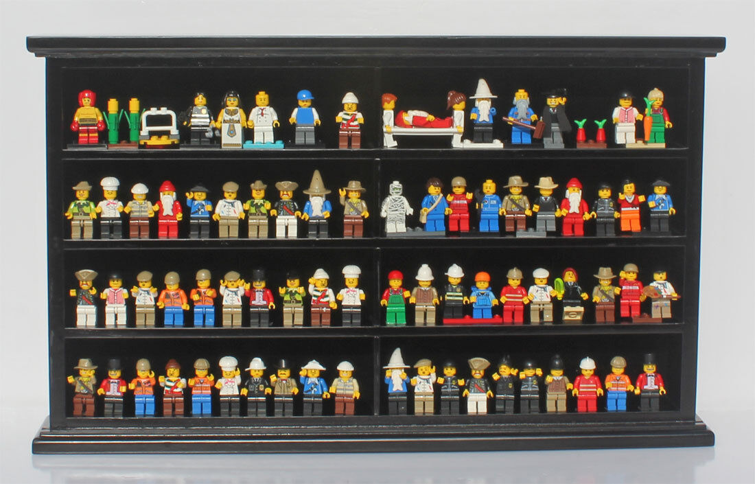 Minecraft Minifigure Men Display Case Wall Cabinet Stand, LG-MH07-BL