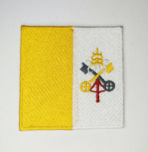 Vatican City National Country Flag Iron Sew on Embroidered Patch