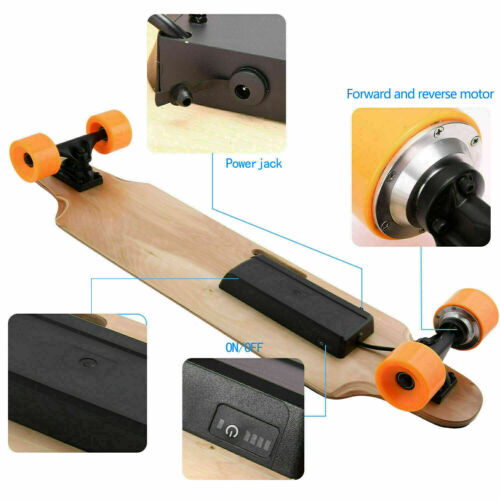 Remote Controller Load 220lbs Details about  /Maple Deck Electric Skateboard Longboard Crusier
