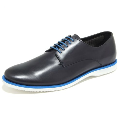 0291N scarpa classica HOGAN DERBY sneaker uomo shoes men blu