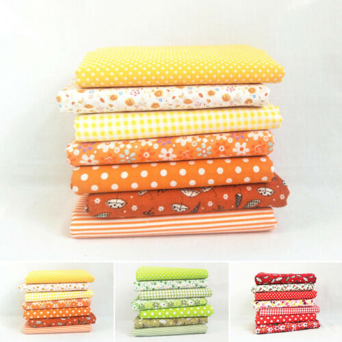 Floral Cotton Fabric Fat Quarter Bundle Quilting Patchwork Craft CHILDREN BABY