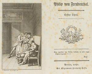 Chodowiecki (1726-1801). svenimento della sua amata; pressione grafico