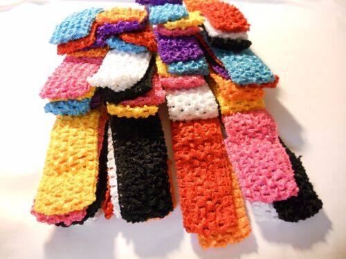 Wholesale 16 pcs Girls Crochet Headband With 1.5 inch Acrylic choose color. Baby Accessoires