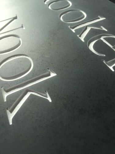 Smooth surface Slate House Gate Plaque Sign 300mm x 200mm  ANY NAME//NUMBER
