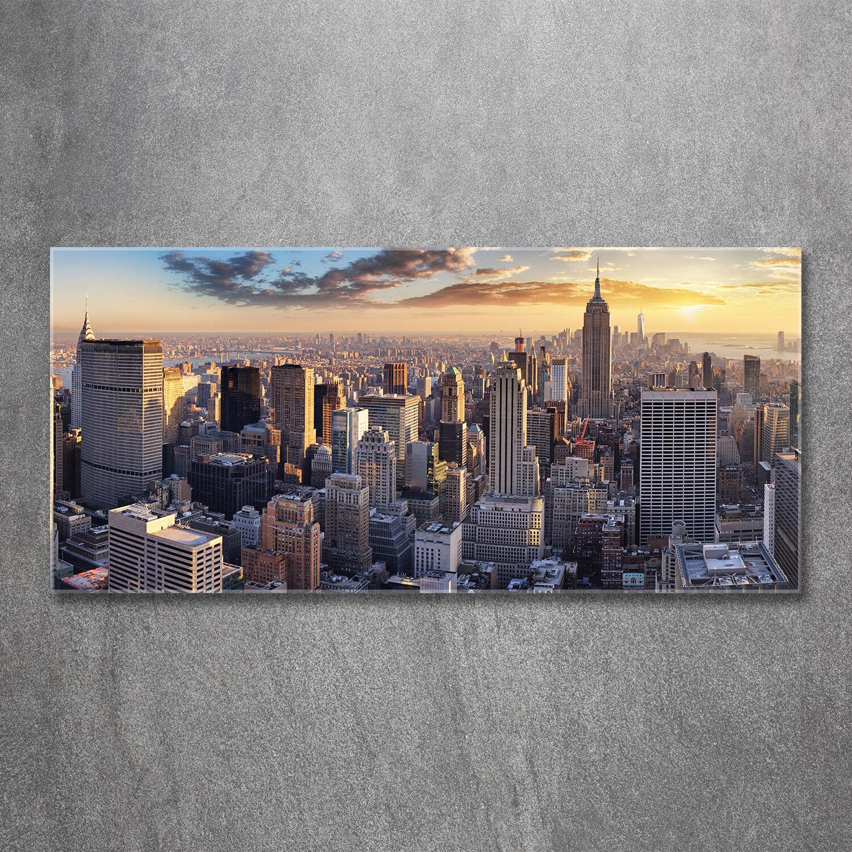 Glas-Bild Wandbilder Druck auf Glas 120x60 Deko Sehenswürdigkeiten New York