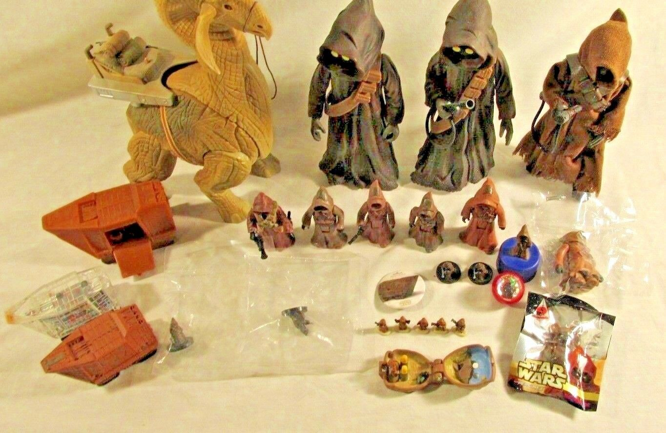 STAR WARS JAWA ACTION FIGURE LOT SANDCRAWLER RONTO MINI MICRO