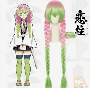 Demon Slayer Kimetsu No Yaiba Kanroji Mitsuri Long Straight Pink Green Wig Ebay Zach aguilar, allegra clark (child) (english). details about demon slayer kimetsu no yaiba kanroji mitsuri long straight pink green wig