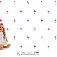 33 Pcs Flamingo Wall Art Stickers Removable Kids Nursery Vinyl Decal Decor Mural