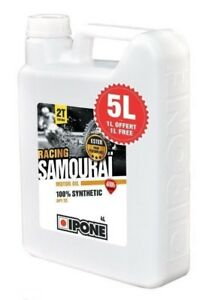 Huile-IPONE-SAMOURAI-FRAISE-Bidon-5-LITRES-5L-2T-100-synthese-2-Temps-NEUF