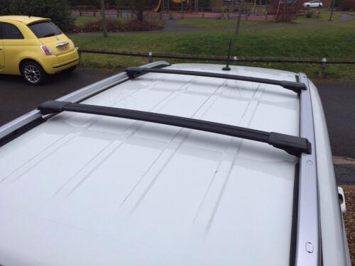 Aerodynamic Black Anodised Aluminium Cross Bar For Jeep Cherokee Liberty KJ