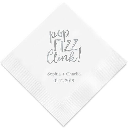 300 Pop Fizz Clink Personalized All Occasion Party Wedding Luncheon Napkins