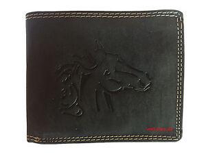 47e9b44fb7bcf Das Bild wird geladen Hochwertige-Geldboerse-Geldbeutel-Portemonnaie-Bueffel -Leder-Wild-Pferd-
