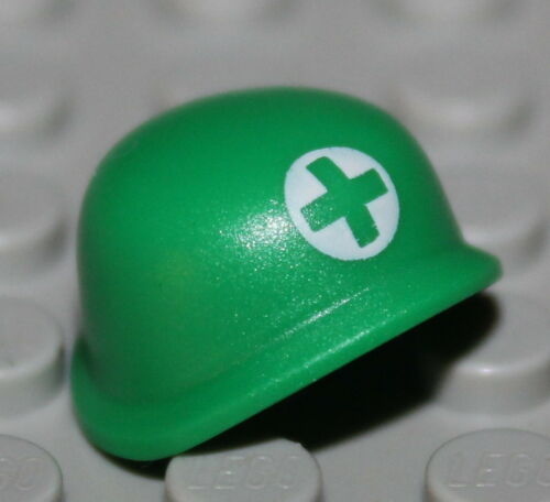 Lego Green Army Helmet Military Medic NEW