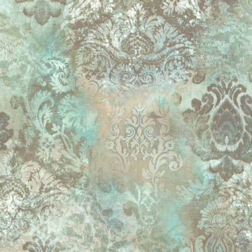 Vintage Queen Vlies Tapete Barock grün beige 02496-52 Großrolle 10,05x1,06m