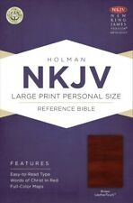 NKJV Large Print Personal Size Reference Bible, Brown LeatherTouch (2013, Imitation Leather)