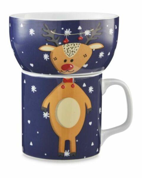 Crofton Children S Mug And Bowl Reindeer Set For Sale
