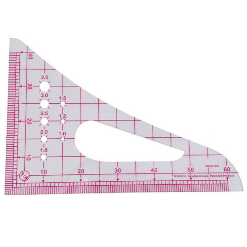 1:4 Triangle Maßstab Lineal Multifunktion Kurve Patchwork Tailor Measuring Tool