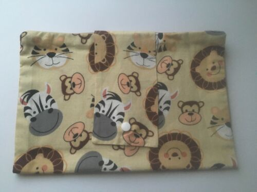 HANDMADE Baby Nappy Wallet Purse SAFARI ANIMALS